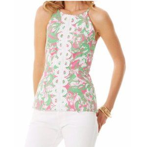 Lilly Pulitzer Annabelle Halter Top in Hotty Pink